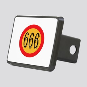 Number 666 Rectangular Hitch Cover