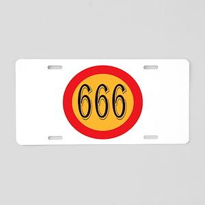 Number 666 Aluminum License Plate