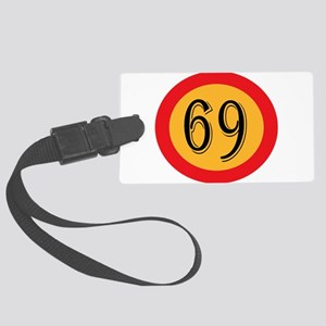 Number 69 Large Luggage Tag