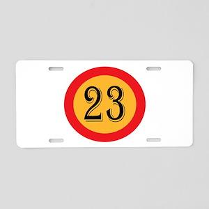Number 23 Aluminum License Plate