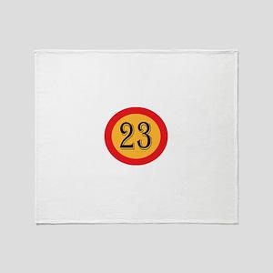 Number 23 Throw Blanket