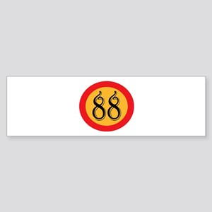 Number 88 Bumper Sticker