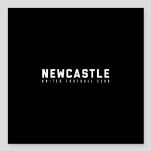 "Newcastle United Footbal Square Car Magnet 3"" x 3"""