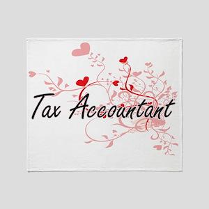 Tax Accountant Artistic Job Design w Throw Blanket