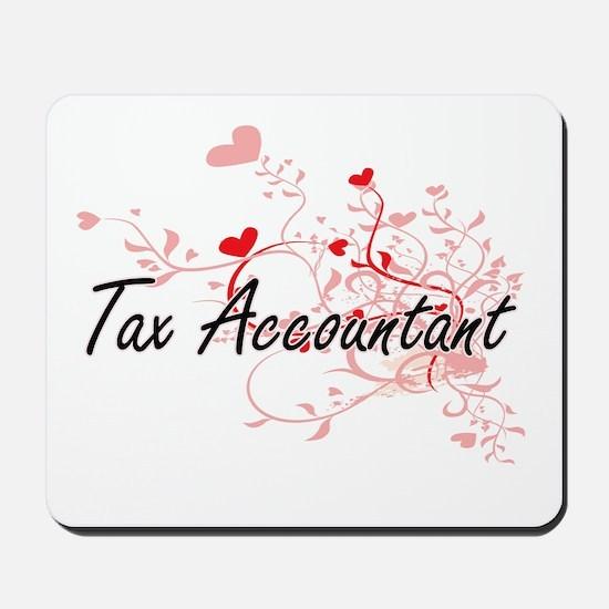 Tax Accountant Artistic Job Design with Mousepad