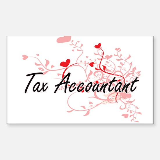 Tax Accountant Artistic Job Design with He Decal