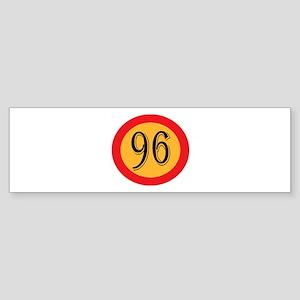 Number 96 Bumper Sticker