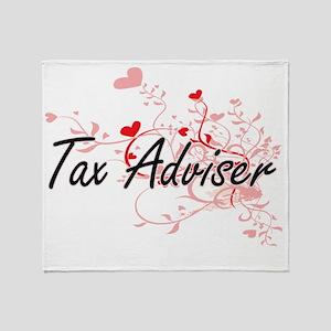 Tax Adviser Artistic Job Design with Throw Blanket