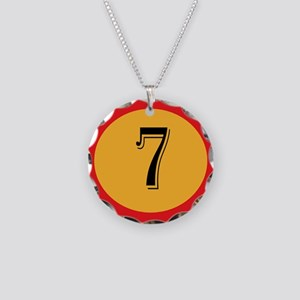 Number 7 Necklace Circle Charm
