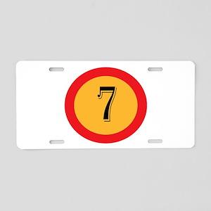Number 7 Aluminum License Plate