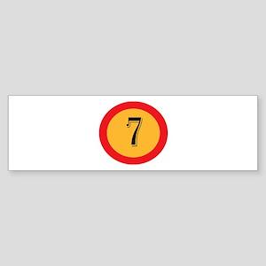 Number 7 Bumper Sticker