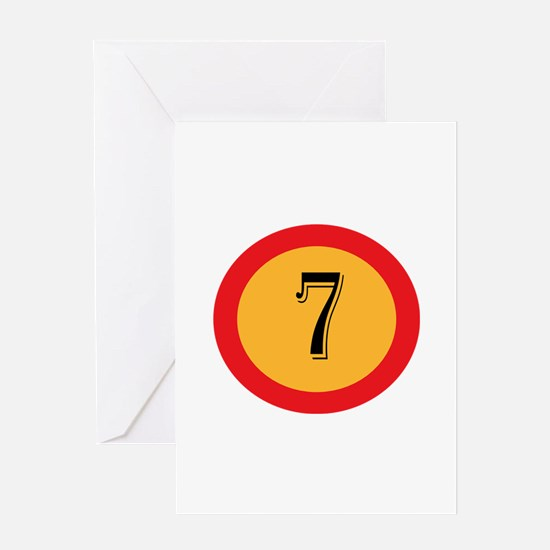Number 7 Greeting Cards