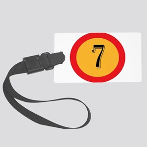 Number 7 Large Luggage Tag