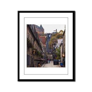 Rue Sous Le Fort Framed Panel Print