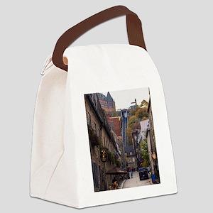 Rue Sous Le Fort Canvas Lunch Bag