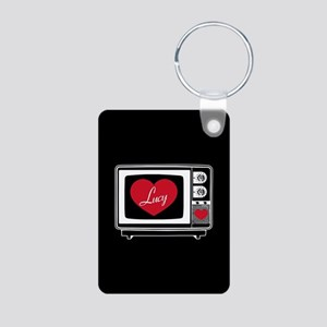 I Love Lucy TV Aluminum Photo Keychain