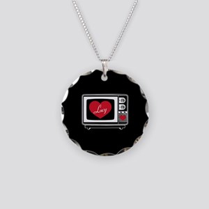 I Love Lucy TV Necklace Circle Charm