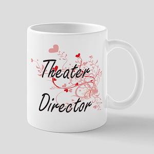 Theater Director Artistic Job Design with Hea Mugs