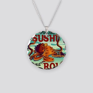 Sushi Roll Necklace Circle Charm