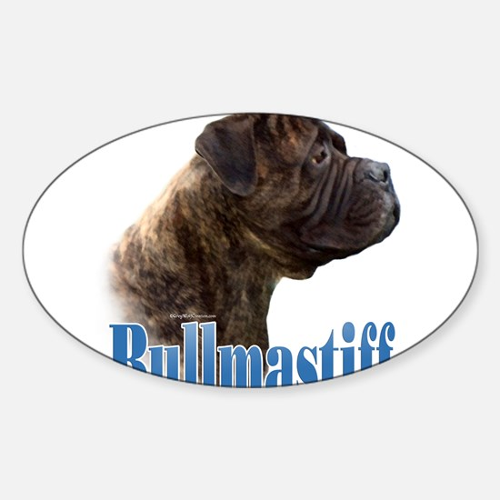 Bullmastiff(brindle)Name Rectangle Decal