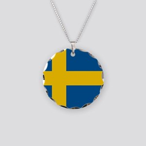 SWEDEN Necklace Circle Charm