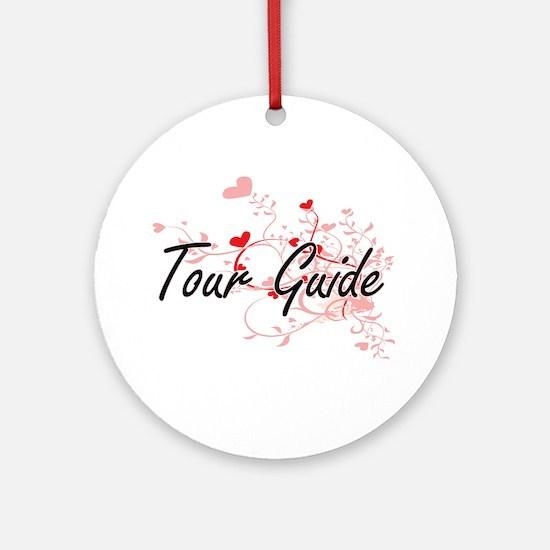 Tour Guide Artistic Job Design with Round Ornament