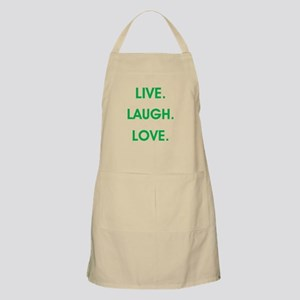 LIVE, LAUGH, LOVE. Apron