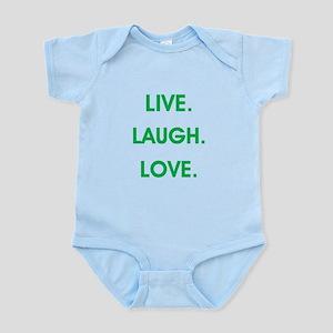LIVE, LAUGH, LOVE. Body Suit