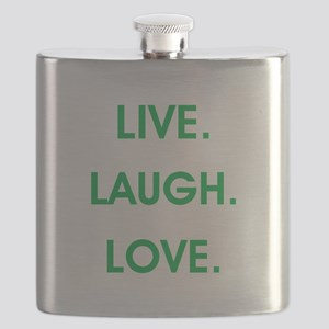 LIVE, LAUGH, LOVE. Flask