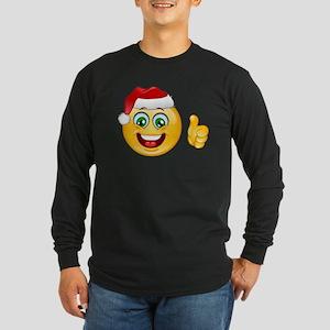 santa claus emoji Long Sleeve T-Shirt