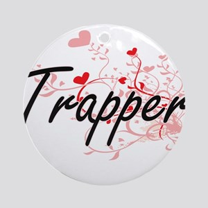 Trapper Artistic Job Design with He Round Ornament