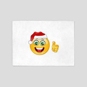 santa claus emoji 5'x7'Area Rug