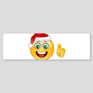 santa claus emoji Bumper Sticker