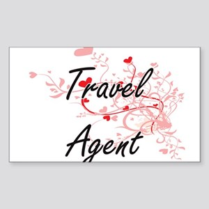 Travel Agent Artistic Job Design with Hear Sticker