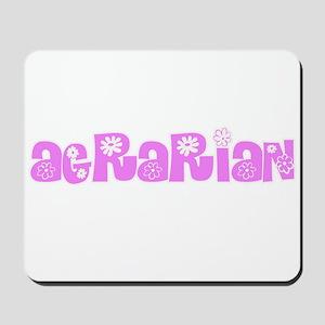 Agrarian Pink Flower Design Mousepad
