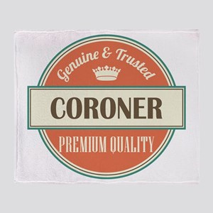 coroner vintage logo Throw Blanket