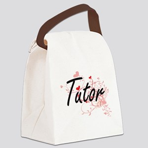 Tutor Artistic Job Design with He Canvas Lunch Bag
