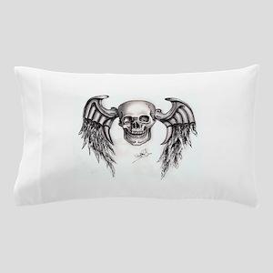 Flying Skull Pillow Case