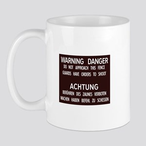 Warning Danger Achtung, Cold War Berlin Mug