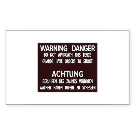 Warning Danger Achtung, Cold War Berlin Sticker (R