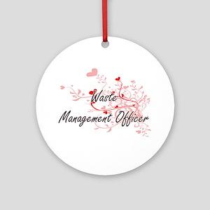 Waste Management Officer Artistic J Round Ornament