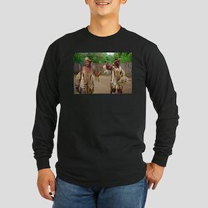 Zulu- out of Africa- Long Sleeve Dark T-Shirt