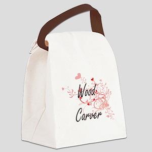 Wood Carver Artistic Job Design w Canvas Lunch Bag