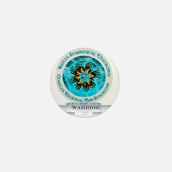 CRPS RSD Warrior Starburst Shield Mini Button