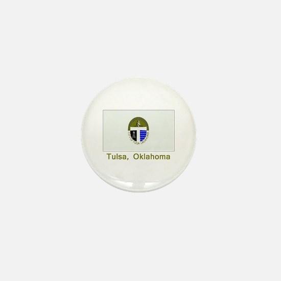 Tulsa OK Flag Mini Button