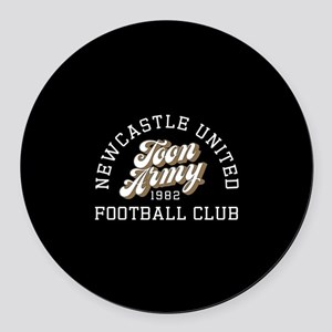 Newcastle Toon Army Round Car Magnet