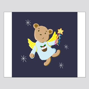 Cute Teddy Bear Christmas Angel Poster Design