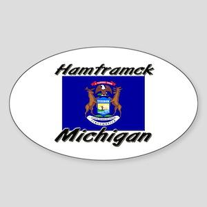 Hamtramck Michigan Oval Sticker