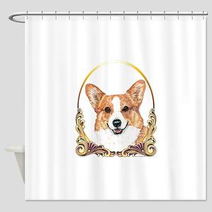 Pembroke Welsh Corgi Holiday Shower Curtain