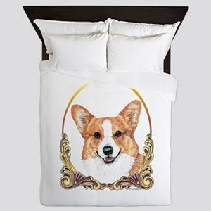 Pembroke Welsh Corgi Holiday Queen Duvet